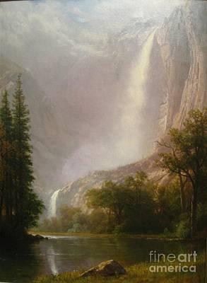 Yosemite Painting - Yosemite Falls by Albert Bierstadt