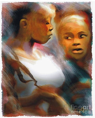 2 Young Haitian Ladies Print by Bob Salo