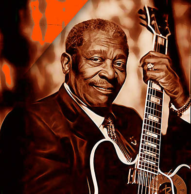 King Mixed Media - Bb King Collection by Marvin Blaine