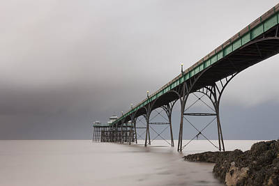 Clevedon Pier Print by Don Hooper