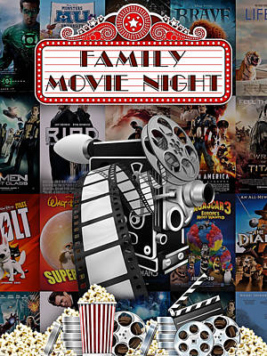 Movie Room Decor Collection Print by Marvin Blaine