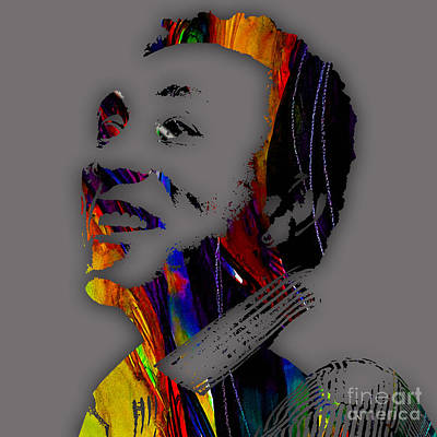 Pop Singer Mixed Media - Smokey Robinson Collection by Marvin Blaine