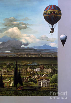 Louvre Painting - 200 Years Of Ballooning by Jane Whiting Chrzanoska