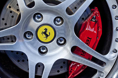 Brakes Photograph - 2000 Ferrari Wheel by Jill Reger