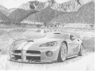 Viper Mixed Media - 2003 Dodge Viper Gts-r Sports Car Art Print by Stephen Rooks