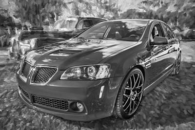 2008 Pontiac Gt8 Painted Bw   Print by Rich Franco