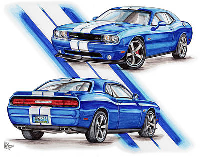 2011 Dodge Challenger Srt Print by Shannon Watts