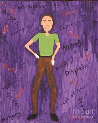 2011 Worried Man Original by Gregory Davis