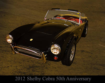 Cobra Digital Art - 2012 Shelby Cobra 50th Anniversary  by Chris Flees