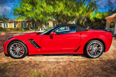 Limited Edition Photograph - 2015 Chevrolet Corvette Zo6 Painted  by Rich Franco