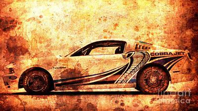 2015 Ford Mustang Cobra Jet Turbo Print by Pablo Franchi