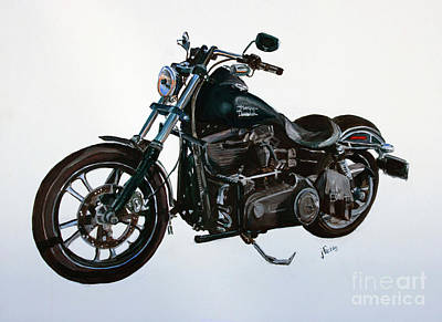 Painting - 2015 Harley Davidson Dyna by Janet Felts