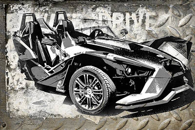 Ink Digital Art - 2015 Polaris Slingshot  by Melissa Smith