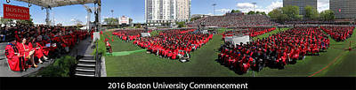 Gigapan Photograph - 2016 Boston University Commencement by Juergen Roth
