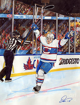 Montreal Drawing - 2016 Winter Classic by Dave Olsen