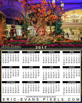 Sunrise Photograph - 2017 Calendar Bellagio Enchanted Tree by Eric Evans
