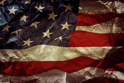 American Pride Photograph - American Flag by Les Cunliffe
