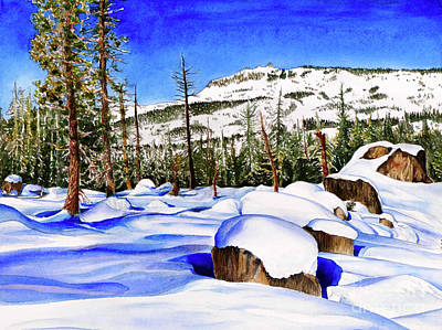 Pacific Crest Trail Painting - #202 Donner Summit by William Lum