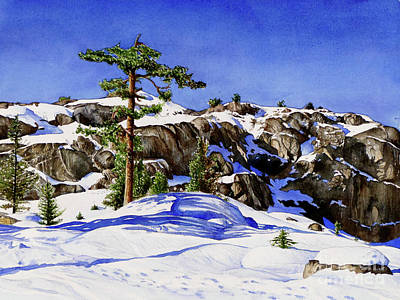 Pacific Crest Trail Painting - #204 Donner Summit 2 by William Lum