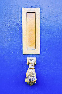Old Home Place Photograph - Blue Door by Tom Gowanlock