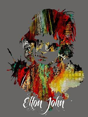 Elton John Collection Print by Marvin Blaine