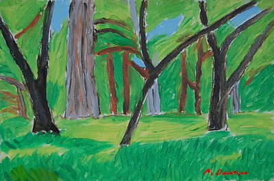 Webster Ny Painting - Trees, Webster Park, 2012 by Peter Devries
