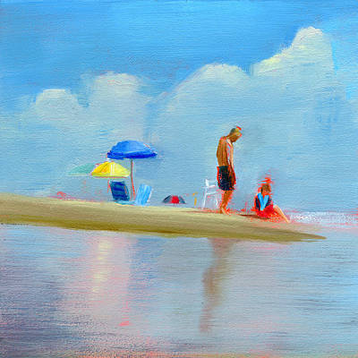 Sandcastle Painting - Rcnpaintings.com by Chris N Rohrbach