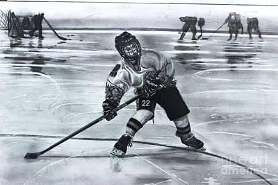 Youth Hockey Drawing - #22 Bilotta  by Gary Reising