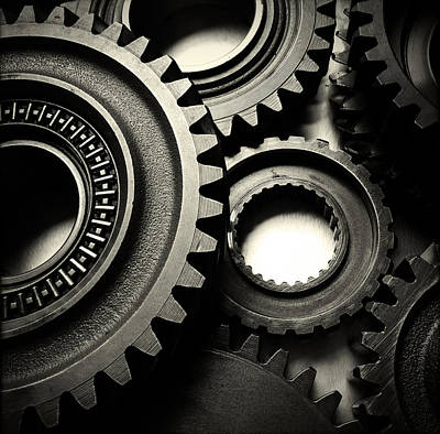 Indoor Photograph - Cogs  by Les Cunliffe