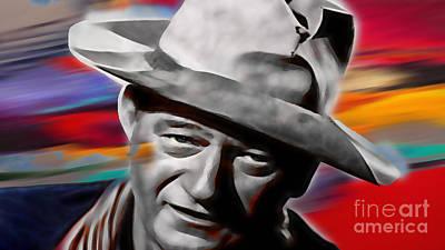 John Wayne Collection Print by Marvin Blaine