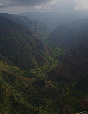 Kauai Canyons Print by Steven Lapkin
