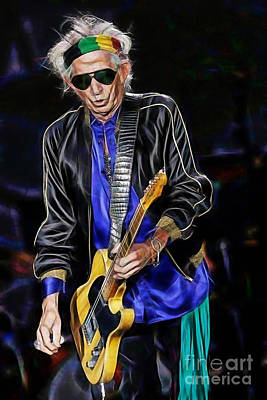 Keith Richards Mixed Media - Keith Richards Collection by Marvin Blaine