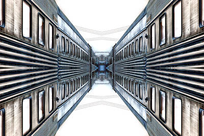 Outer Space Mixed Media - 22nd Century Floating Cities A Gangway by Thomas Woolworth