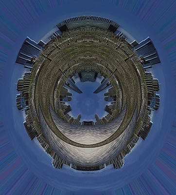 Outer Space Mixed Media - 22nd Century Floating Cities A View Of The Park by Thomas Woolworth