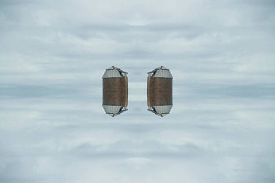 Outer Space Mixed Media - 22nd Century Floating Cities Farming Silos by Thomas Woolworth