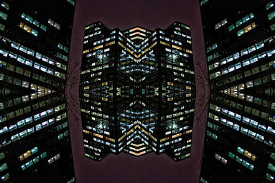 Outer Space Mixed Media - 22nd Century Floating Cities Where A Tree Grows by Thomas Woolworth