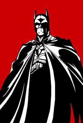 Batman Digital Art - Batman by Elena Kosvincheva