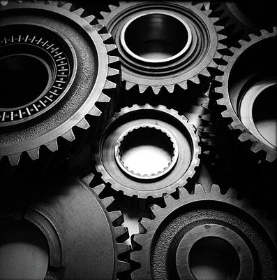 Unity Photograph - Cogs  by Les Cunliffe