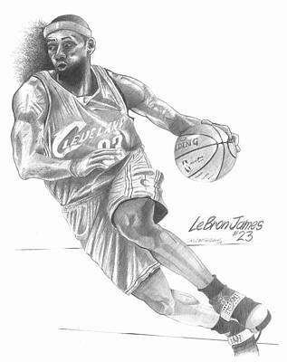 Lebron James Drawing - #23 by Dale McFarland