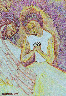 Gloria Mixed Media - The Annunciation by Gloria Ssali
