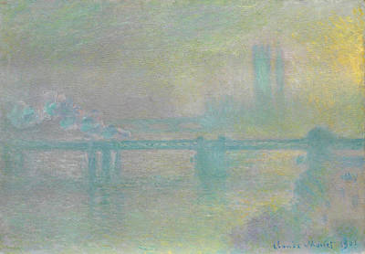 Perspective Painting - Charing Cross Bridge by Claude Monet