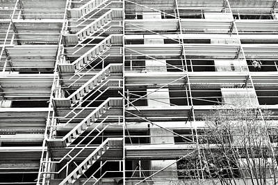Scaffolding Print by Tom Gowanlock