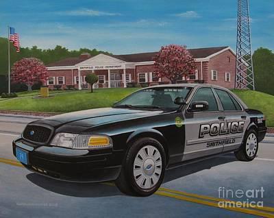 Police Cruiser Painting - 24spd by Robert VanNieuwenhuyze