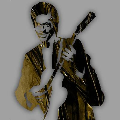 Poster Mixed Media - Chuck Berry Collection by Marvin Blaine