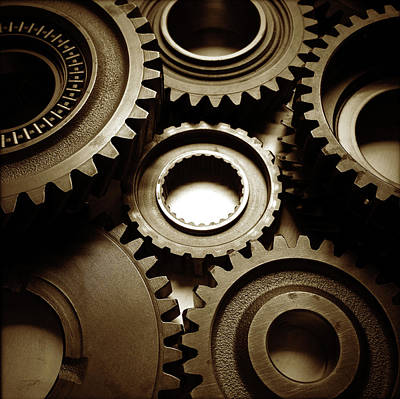 Gearing Photograph - Cogs  by Les Cunliffe