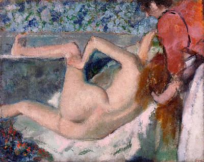 Bathing Painting - After The Bath by Edgar Degas