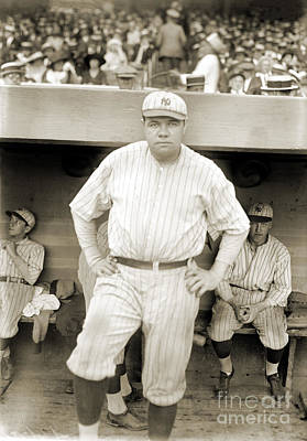 Dugout Photograph - George H. Ruth (1895-1948) by Granger