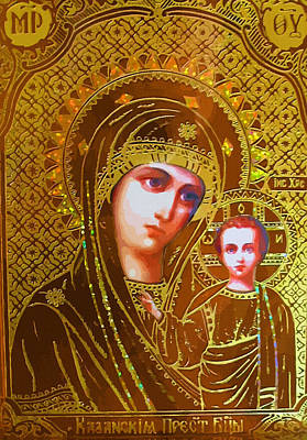 Madonna Enthroned Print by Christian Art
