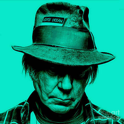 Celebrities Mixed Media - Neil Young Collection by Marvin Blaine