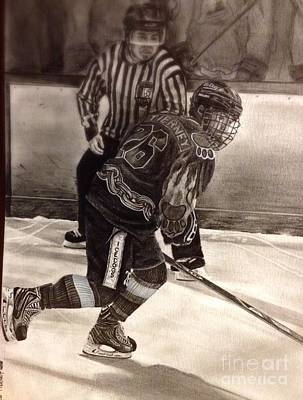 Youth Hockey Drawing - #26 Tierney by Gary Reising